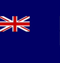 Naval reserve union jack vector
