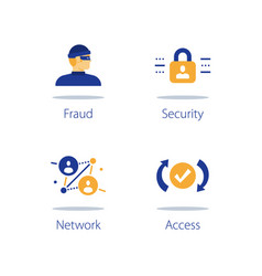 Network security system online safety strong vector