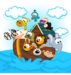 Noah Ark with Animals vector