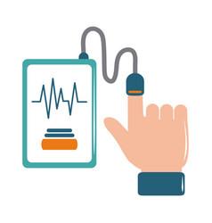 Online doctor smartphone blood pressure test care vector