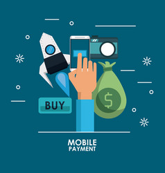 online mobile payment vector image