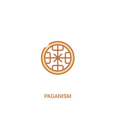 Paganism concept 2 colored icon simple line vector