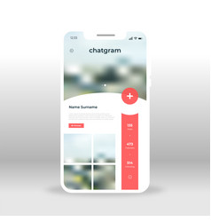 Red live chat room ui ux gui screen for mobile vector