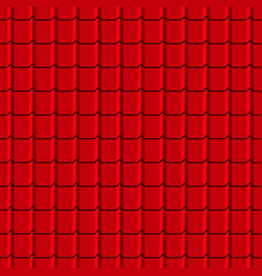 Rotiles seamless pattern red shingles vector