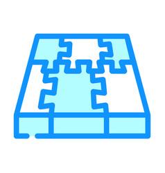Rubber cover floor color icon vector