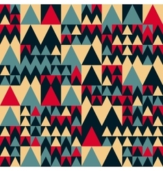 Seamless Red Navy Blue Tan Colors Geometric vector image vector image