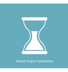 SEO - Search Engine Optimization Flat Icon vector image