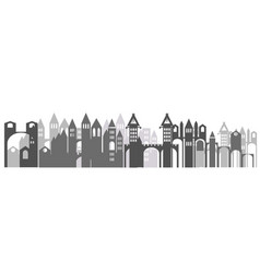 silhouette of city vector image