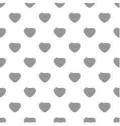 Striped heart pattern seamless vector