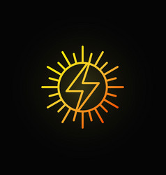 Sun concept colorful icon vector