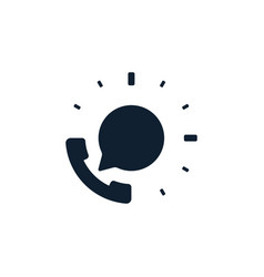 support phone with speech bubble icon vector image