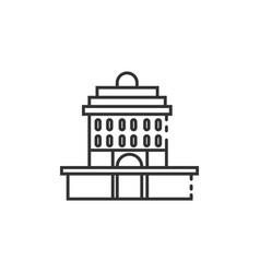 Thin line oakland city hall icon vector