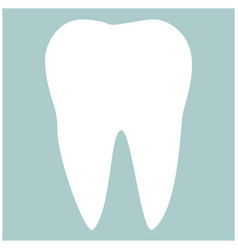 Tooth the white color icon vector