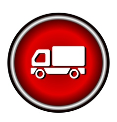 Truck Icon on white background vector