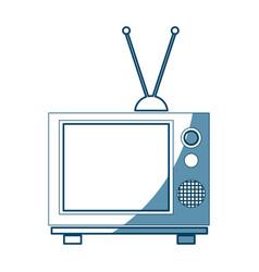 Vintage tv screen antenna entertainment analogue vector