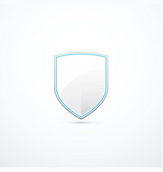 white and blue shield vector image