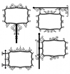 wrought iron signs vector image