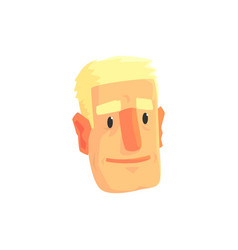 young blond man face avatar positive male vector image
