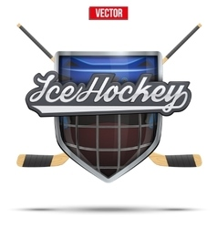Ice hockey symbol Design elements vector image vector image