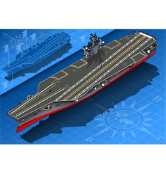 Isometric Aircraft Carrier in Front View vector image