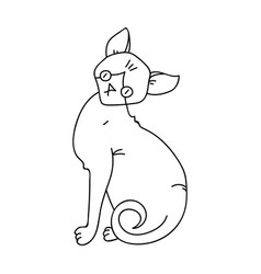 sphynx icon in outline style isolated on white vector image