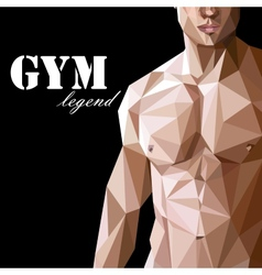 with caucasian or asian man muscle body in vector image vector image
