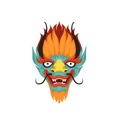 dragon face symbol of chinese boat festival vector image