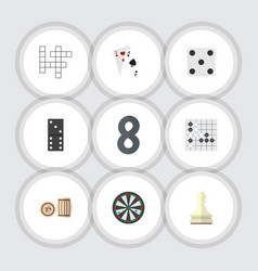 flat icon play set of lottery arrow bones game vector image vector image
