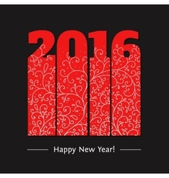 New year text design vector image vector image