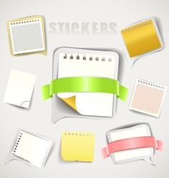 Paper stickers with ribbons collection vector image vector image