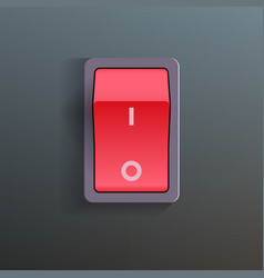 Red Switch vector image