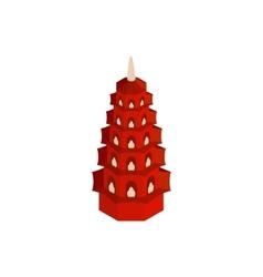 Tran Quoc Pagoda in Hanoi Vietnam icon vector image