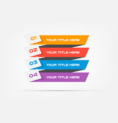 bands infographic concept template with 4 vector image vector image