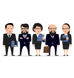 business team - group businessman character vector image vector image