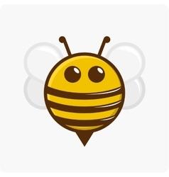 Character little bee vector image