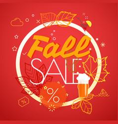 fall sale season sale concept vector image vector image