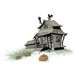 halloween house color vector image