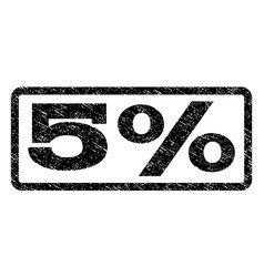 5 percent watermark stamp vector image vector image