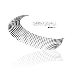 Abstract black and white swirl shape vector image vector image