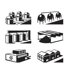 Commercial and industrial warehouses vector image
