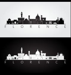 florence skyline and landmarks silhouette vector image