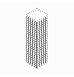 Skyscraper icon isometric 3d style vector image