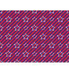 stars and stripes pattern vector image vector image