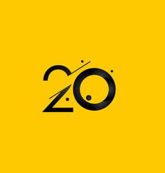 20 years anniversary celebration gradient yellow vector