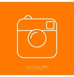 a linear camera icon vector image