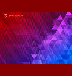 abstract lines and triangles pattern on blue and vector image
