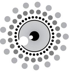 abstract pschadelic eye ball graphic vector image