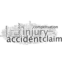Accident claim with a specialist solicitor vector