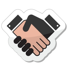 Agreement handshake icon - label vector image