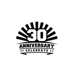 anniversary celebrate emblem badge template vector image